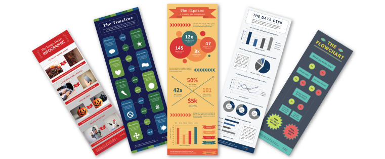 Powerpoint vector infographic. Infographics to teach