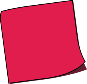 Postit vector red. Off sticky note clip