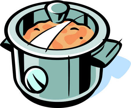 Pot clipart food. Stock illustration drawing of