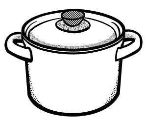 Pot clipart lid. Cooking lineart small image