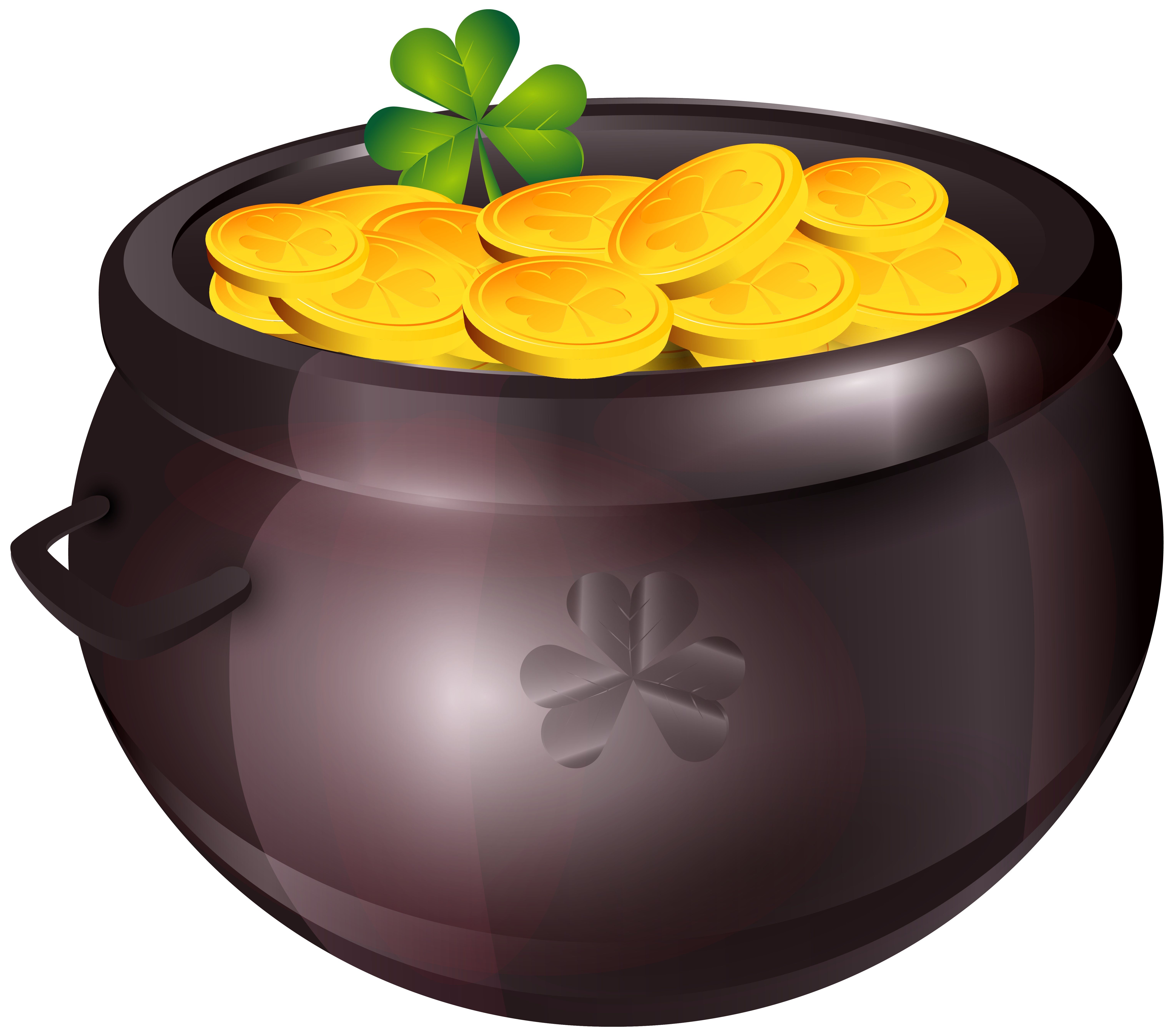 Pot of gold png. Clipart image gallery yopriceville