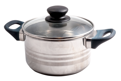 Cooking transparent stainless steel