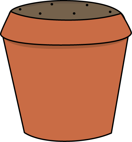 Pot with soil transparent background png. Collection of flower