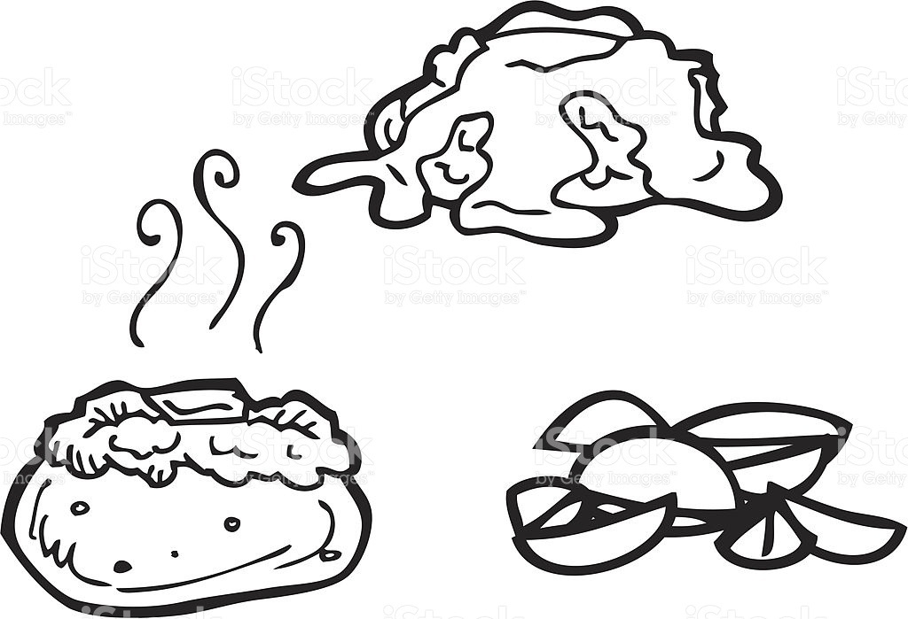 Great of black and. Potato clipart baked potato png library stock