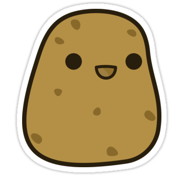 Kawaii potato png. Transparent free images only