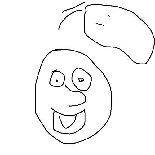 How to quick draw. Potatoes drawing face image free download
