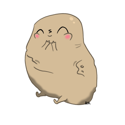 Potatoes drawing space. Request cute potato by