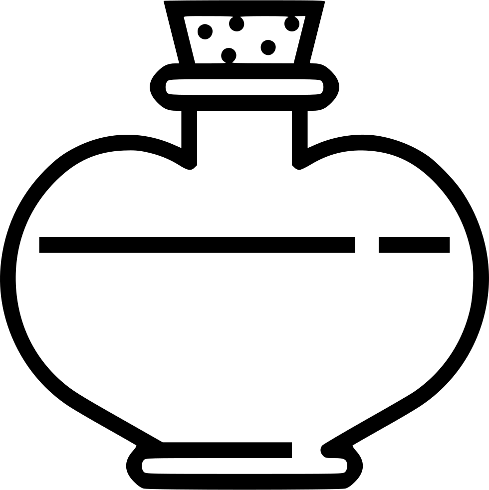 Potion black and white png. Health svg icon free