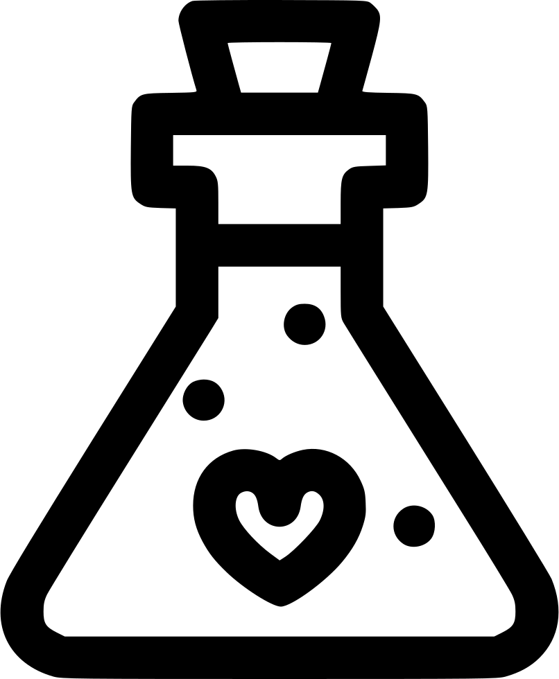 Potion black and white png. Love svg icon free