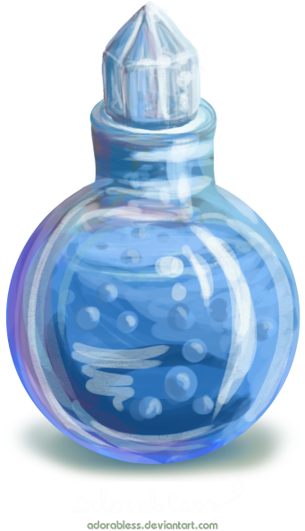 Potion transparent blue. Download hd related image