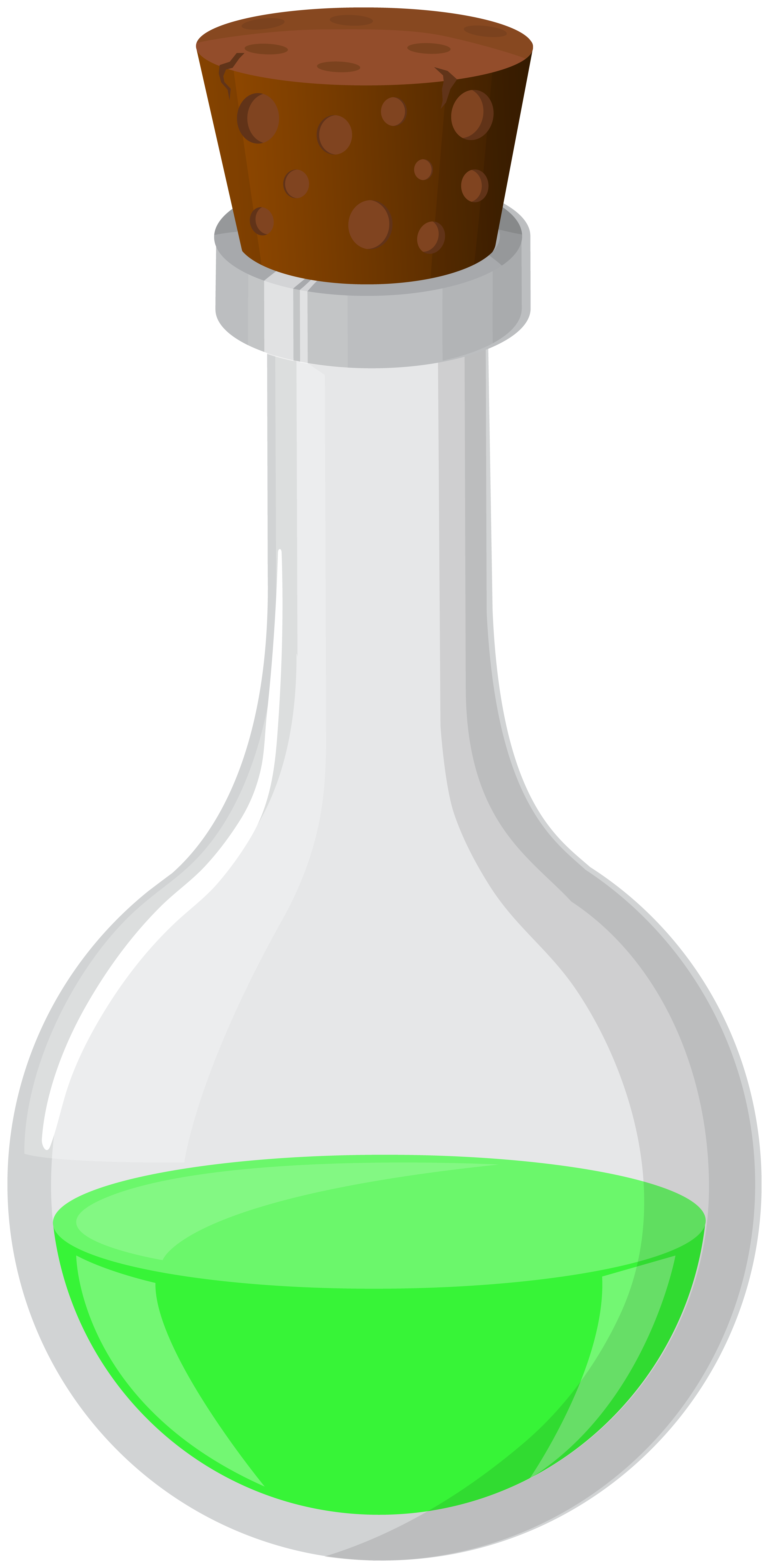 Chemistry clip green potion. Halloween png art image