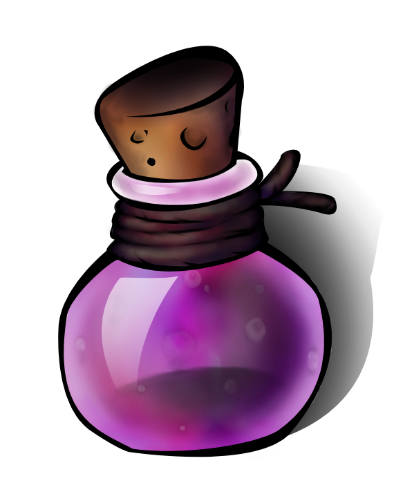 Sleeping potion png. Purple clipart