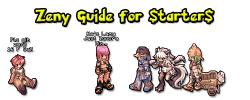 Potion transparent ragnarok. Zeny guide for starters