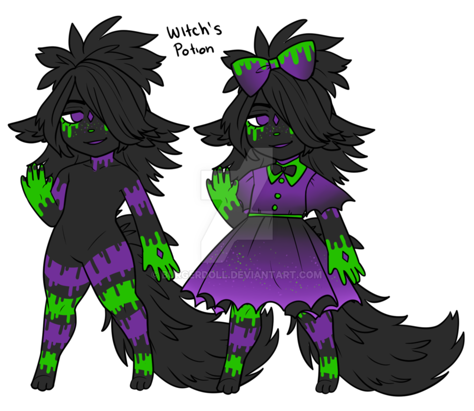Potion transparent witch. Open s sia adopt