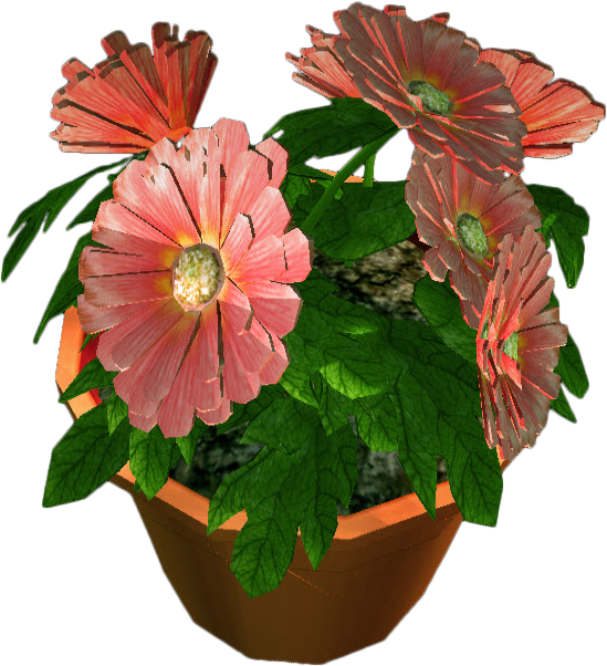 Potted flower png. Image dead rising pot