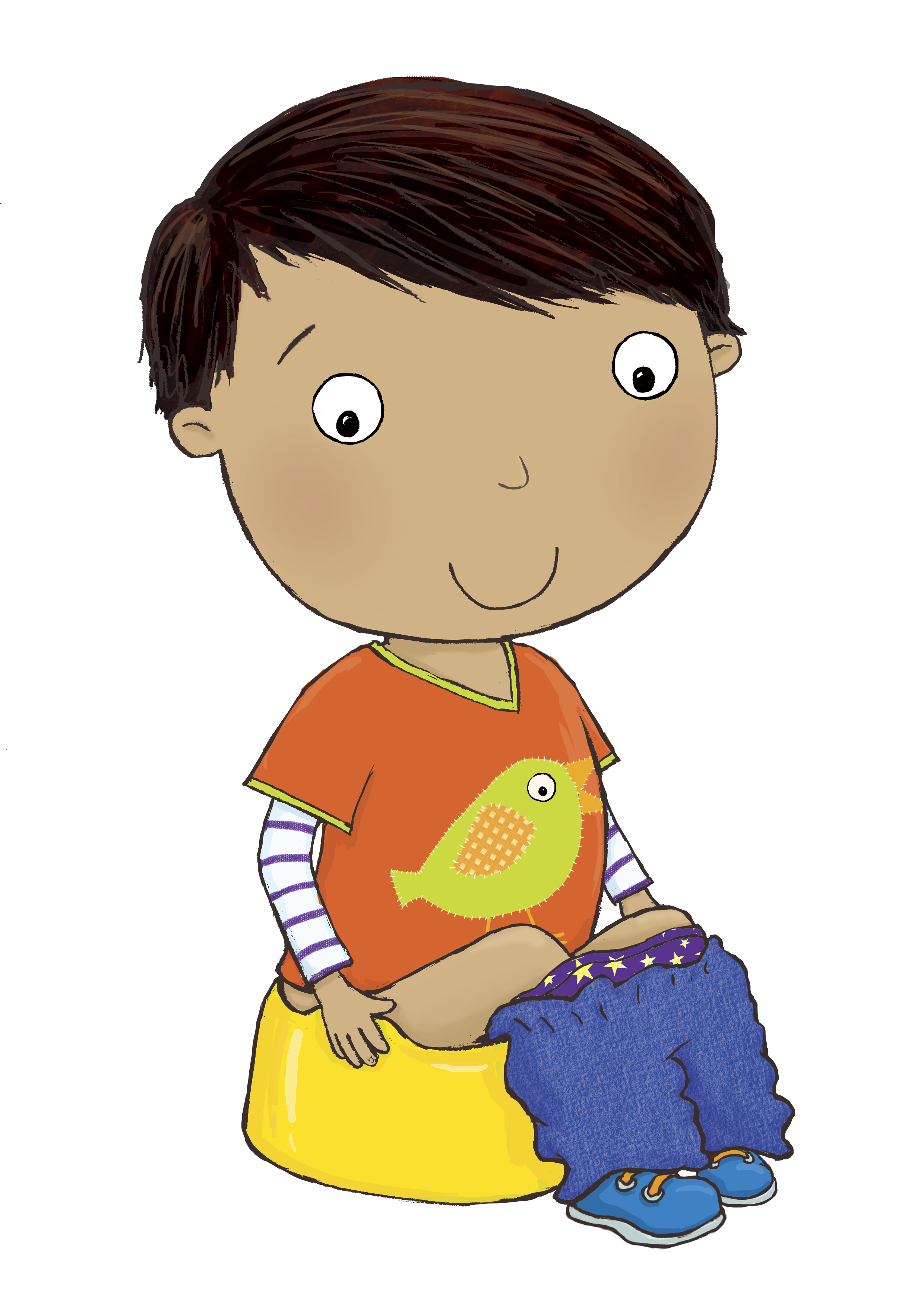 Training clipart training method. Potty group with items
