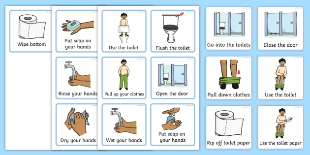 Potty clipart toilet routine. Visual timetable using the