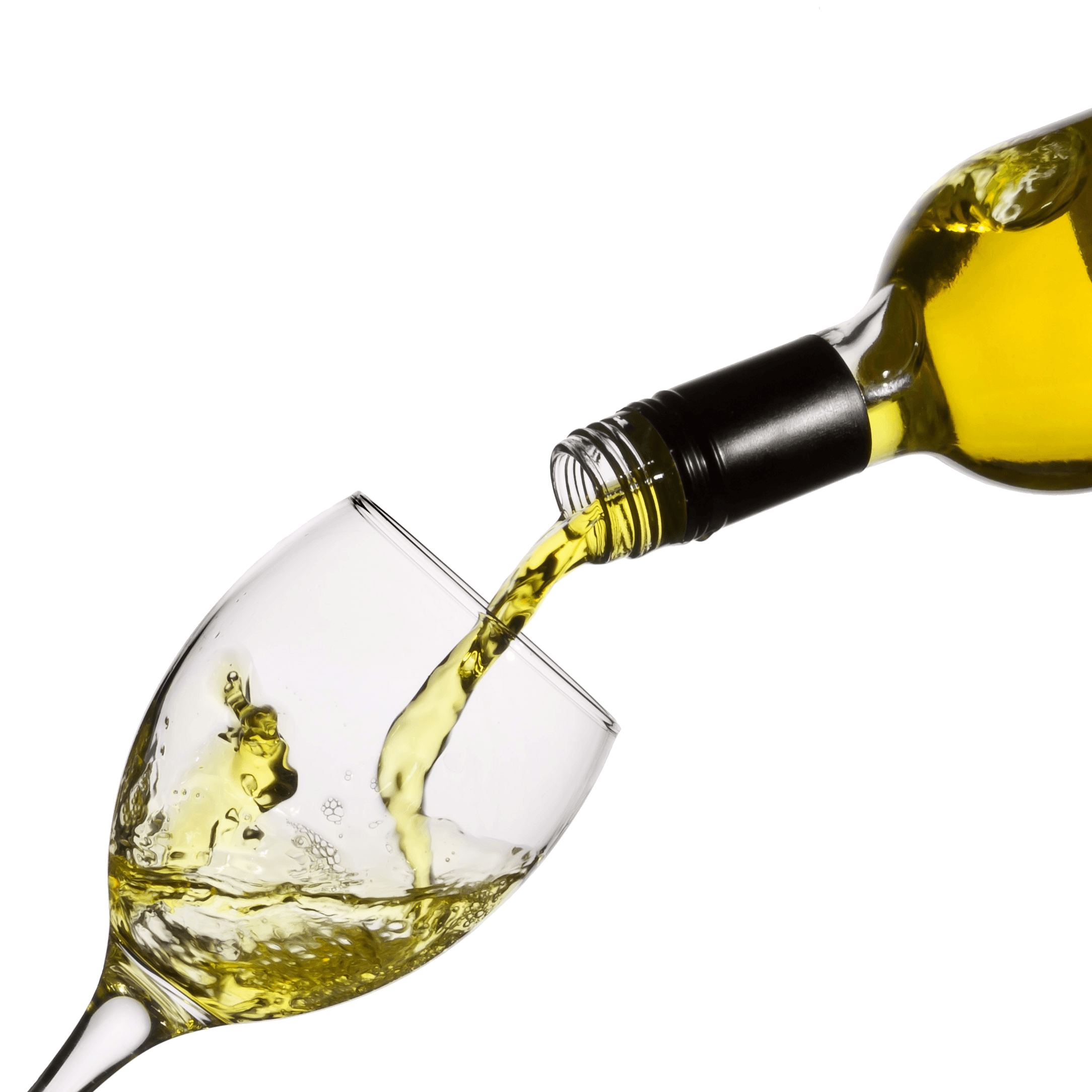 Pouring alcohol png. White wine glass transparent