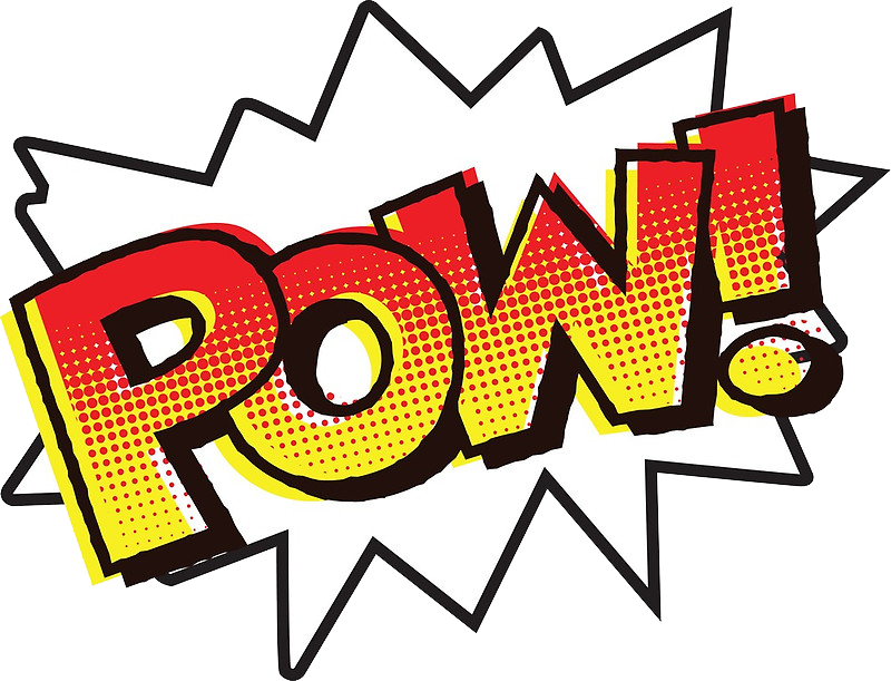 Pow clipart png. Cartoon message text batman