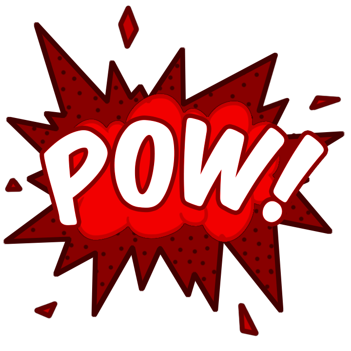 Pop vector comic text bubble. Free pow icon download