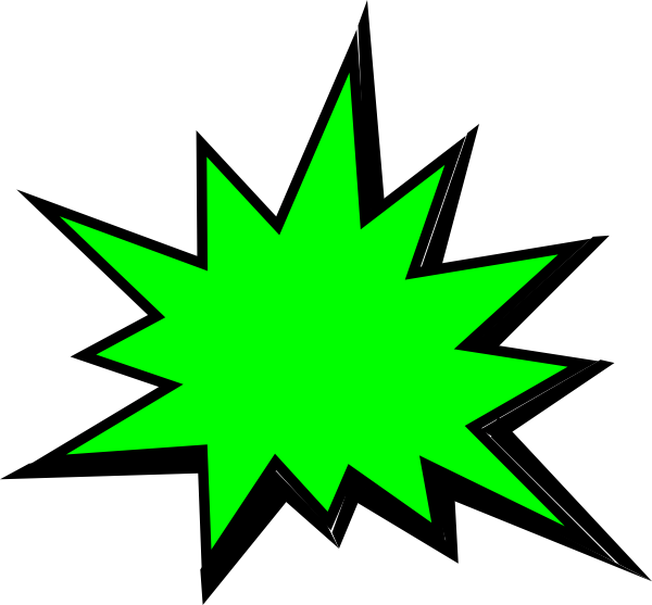Pow! png sign. Green comic pow clip