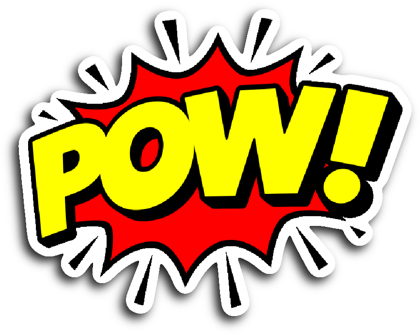 Comic book png pow. Download speech balloon stickers