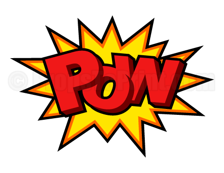 Pow comic book png. Printable photo booth prop