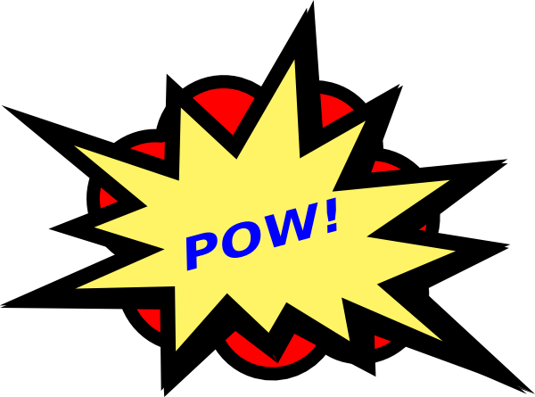 Pow! png action. Collection of clipart