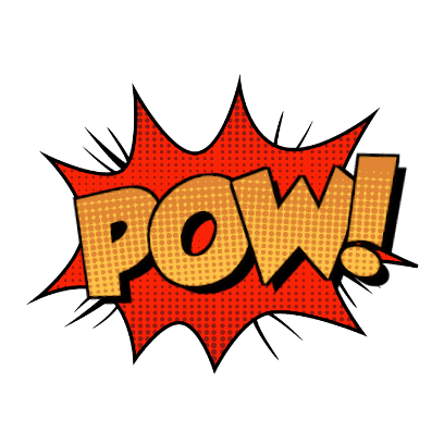Pow! png animated. Comic callout stickers by