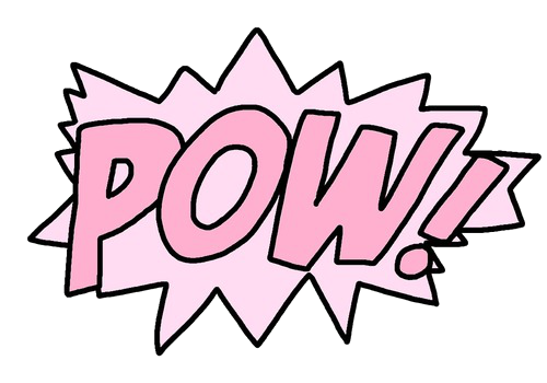Pow! png pink. Tumblr kawaii cute picsart