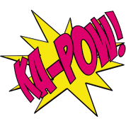Ka pow girl power. Pow! png pink graphic black and white library