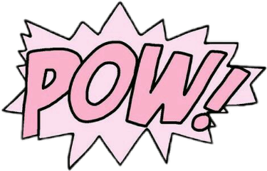 Popular and trending pow. Pow! png pink graphic transparent stock