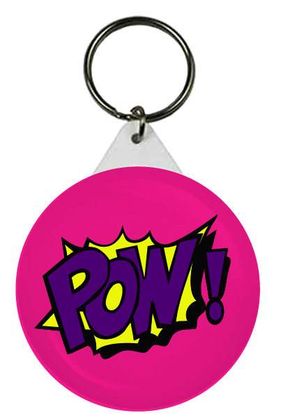 Pow keyring. Pow! png pink clipart library library