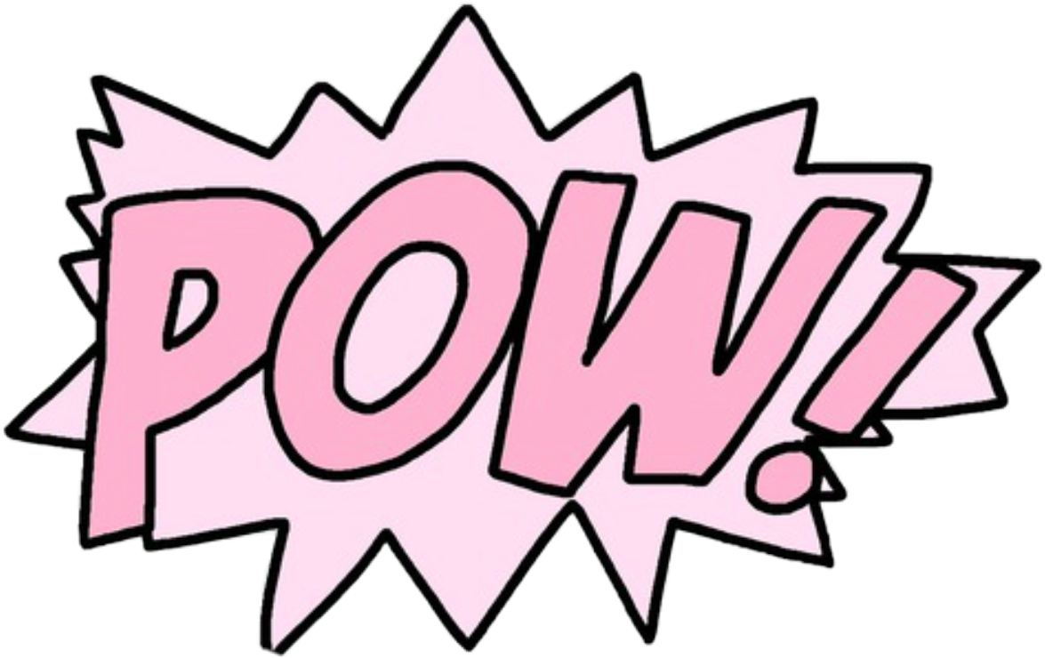 Pow powergirl girl super. Pow! png pink graphic free download
