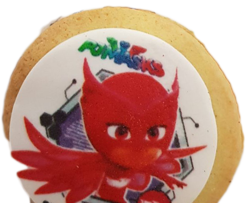 Pow! png pj mask. Biscuits masks with nutella