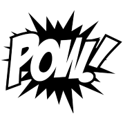 Pow! png sounds. Pow comic book sound