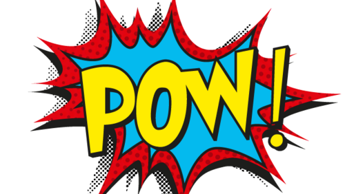 Pow group with items. Pow! png vector svg freeuse stock