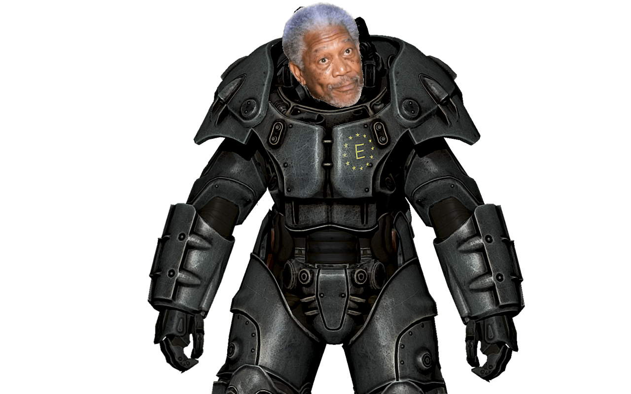 Power armor png. Image morgan freeman derp