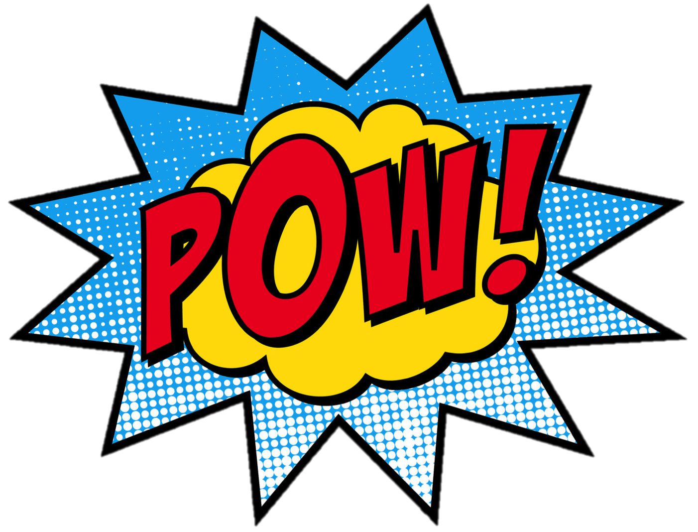 Superhero pow png. The power of words