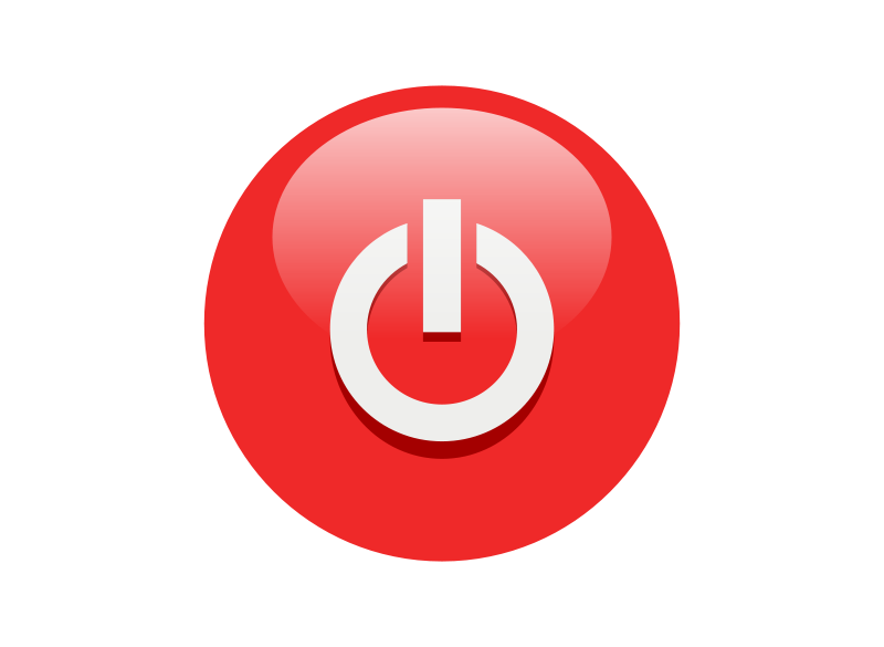 Power clipart. Free red button clip