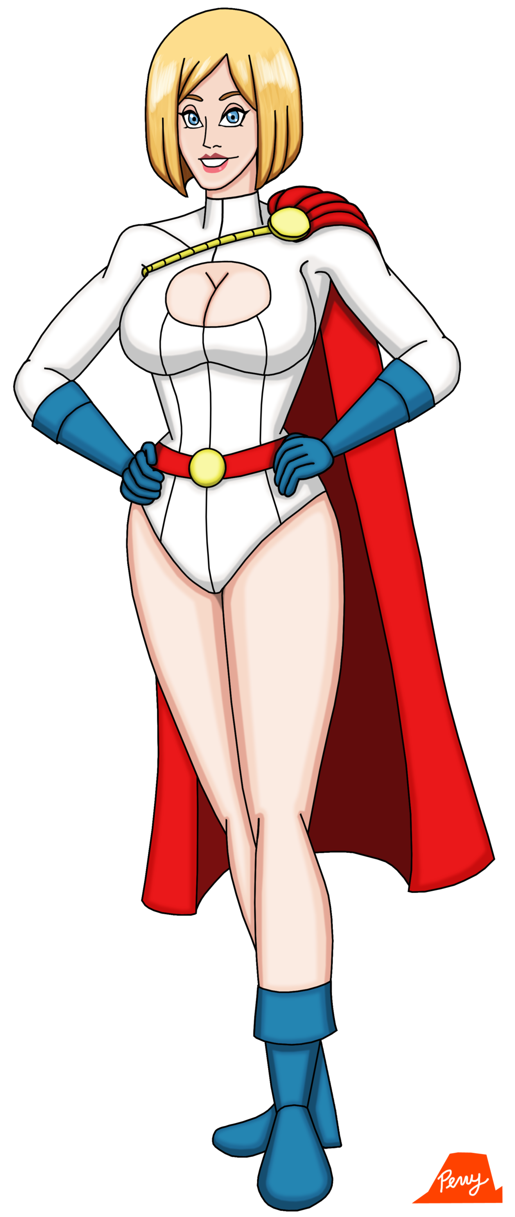 Power girl png. By perrywhite on
