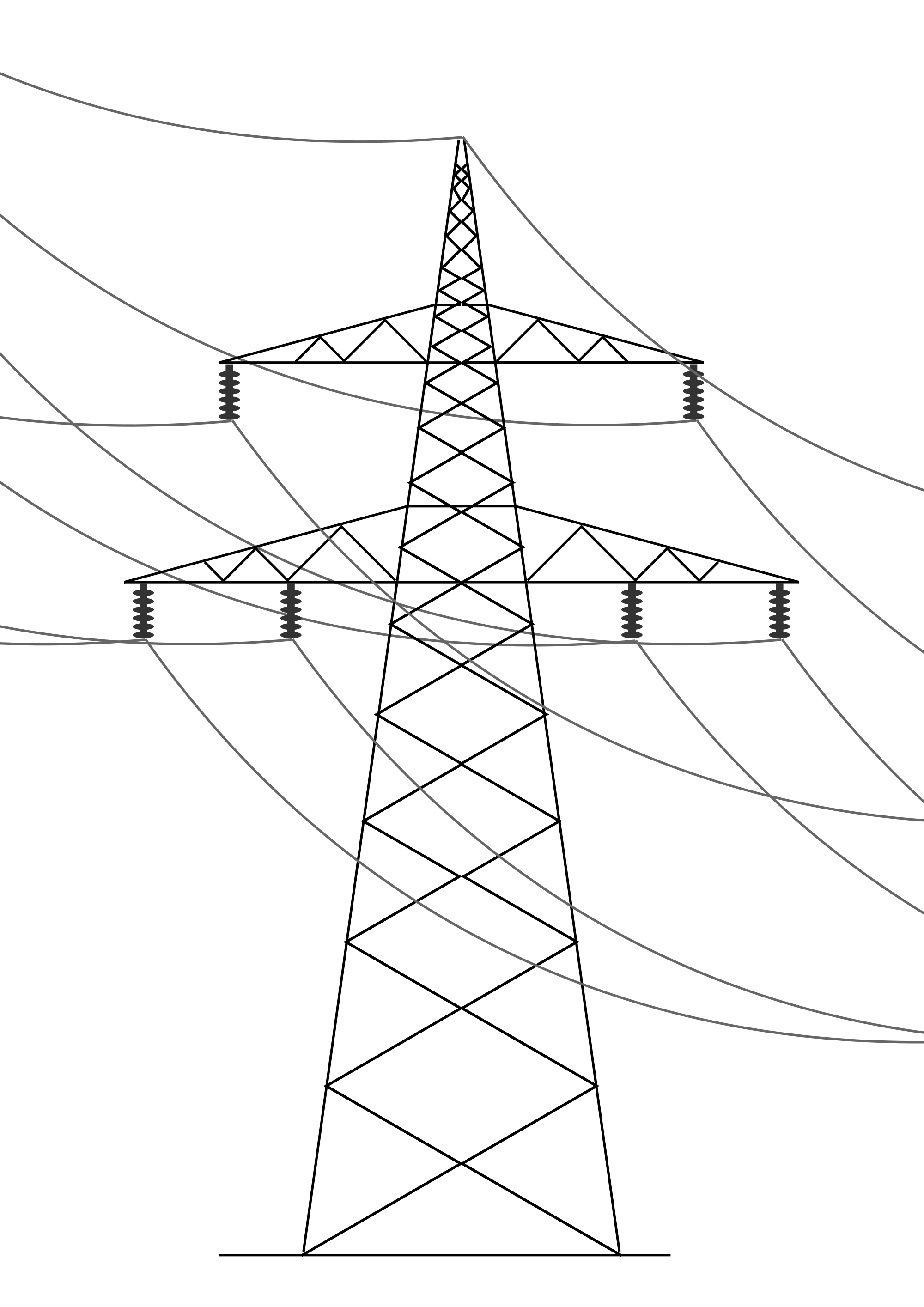 Transmission drawing art. File power line svg