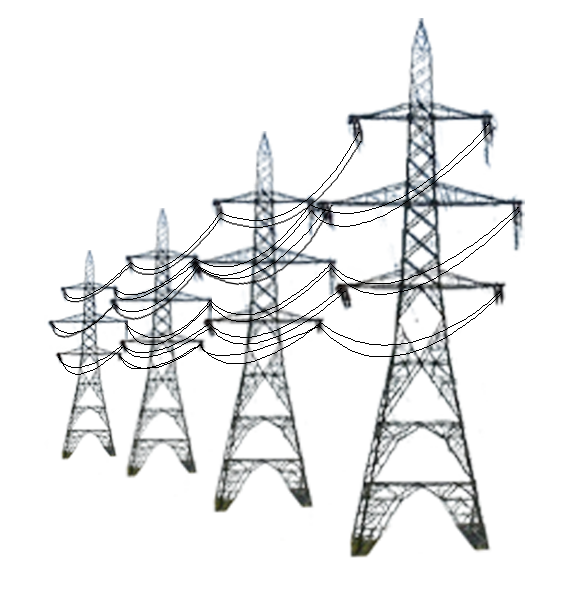 vector power transmission tower