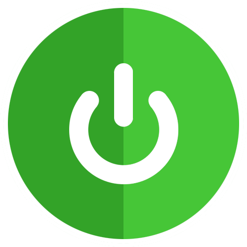Power png. Icon flat circles pack