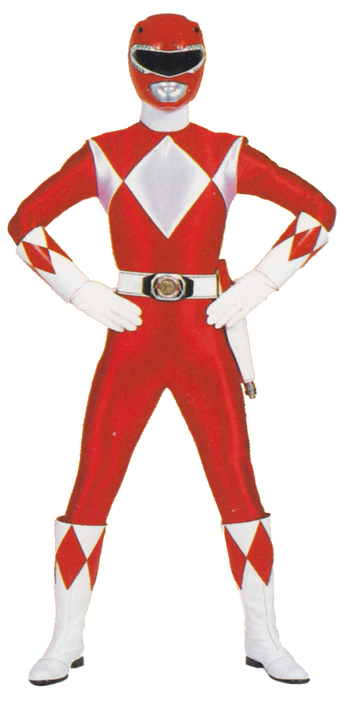 red power ranger png