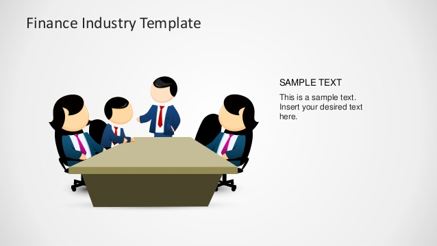 Powerpoint clipart collaboration. Finance industry for slidemodel