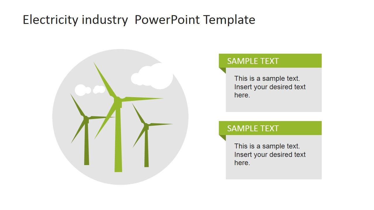 Powerpoint clipart electrical. Electricity industry template slidemodel