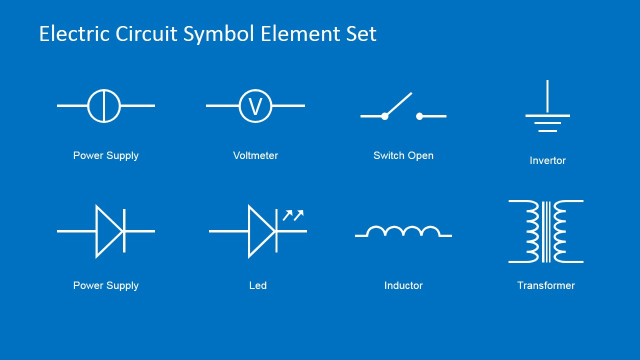 Powerpoint clipart electrical. Electric circuit symbols element