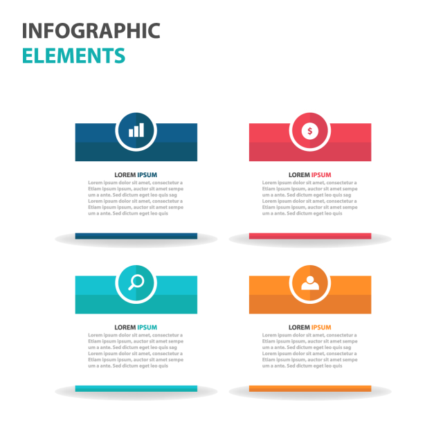 Vector designer infographic. Abstract colorful text box
