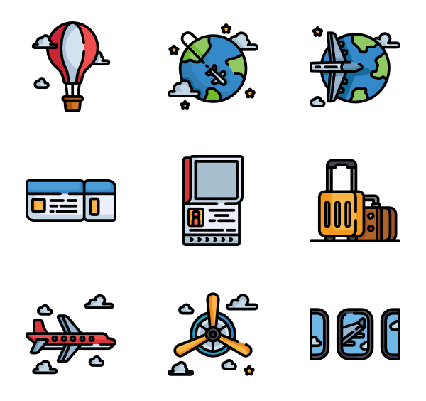 Powerpoint vector sourcing. Pilot icons free aviation